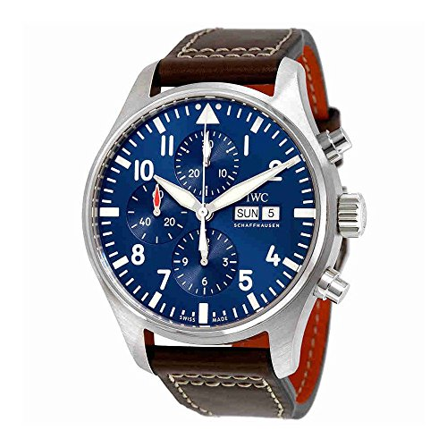 IWC Men's Pilot's Chronograph Edition Le Petit Prince IW377714 Analog Automatic Movement Brown Watch