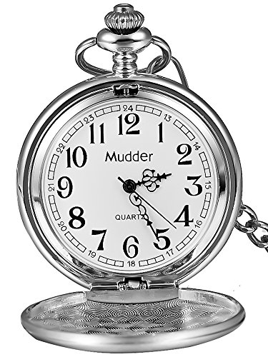 Mudder Classic Smooth Vintage Steel Mens Pocket Watch